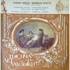 Thousand years of music - H. Schutz (Vinil)