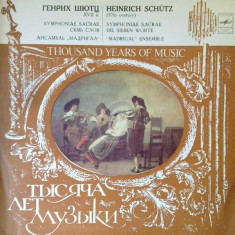 Thousand years of music - H. Schutz (Vinil)