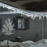 Pom decorativ iluminat 200 LED-uri, 1.5m, decor flori cires, exterior, Home