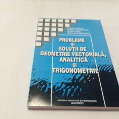 Probleme si solutii de geometrie vectoriala, analitica si de trigonometrie. 2002