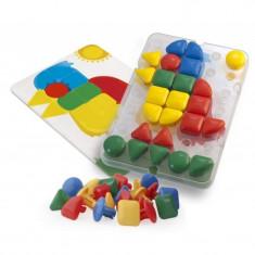 Joc mozaic Gigant Miniland, 32 piese, 4 carduri activitati