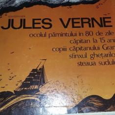 BOX SET cutie 5 discuri LP vinil(vinyl)POVESTI/TEATRU Jules Verne,T.GRATUIT