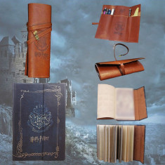 Jurnal / Agenda Harry Potter + Penar Piele Maro Stil Vintage Harry Potter