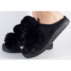 Papuci de casa negri (cod 418002)