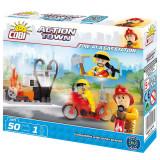 Cumpara ieftin Set de construit Cobi, Fire Brigade, Fire at Gas Station (50 pcs)