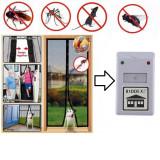 Cumpara ieftin Set anti-daunatori: Perdea magnetica Magic Mesh & Aparat Pest Rippeler Riddex
