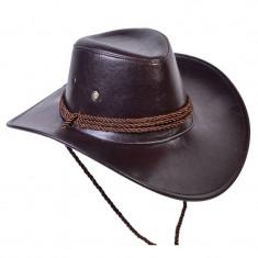 Palarie cowboy, imitatie piele, marime universala