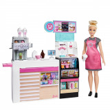 Set de joaca Papusa Barbie, Cafeneaua