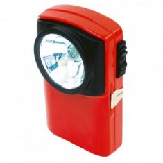 Lanterna de mana, LED Krypton, lumina alb rece, carcasa metalica, rosu