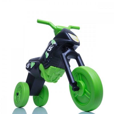 Tricicleta fara pedale Enduro - negru-verde foto