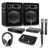 "Cumpara ieftin Auna Set PA ""Mannheim"" amplificator, difuzor și microfoane fara fir"