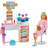 Cumpara ieftin Set Barbie by Mattel Wellness and Fitness Salonul Spa cu Papusa si Accesorii