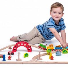 Set de căi ferate - tren și animale sălbatice