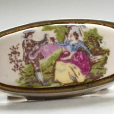 Accesoriu de epoca pentru domnisoare suport de ruj cu oglinda realizat Japonia