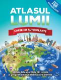 Atlasul lumii. Carte cu autocolante