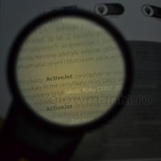 Lupa de mana 4x cu LED si lentila din sticla