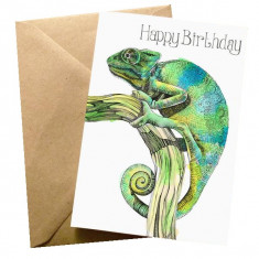 Felicitare - Chameleon Birthday   Wraptious
