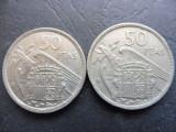Cumpara ieftin LOT 2 MONEDE - 1957 SPANIA 50 PESETAS - FRANCO -  EMISE IN 1958 SI 1960 (34)