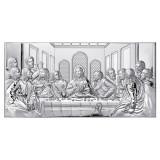 Icoana Cina Cea De Taina Foita de Argint 20x12cm COD: 1688