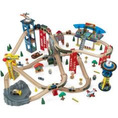 Set Trenulet din lemn de construit Super Highway