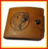 Portofel Pentru Barbati Din Piele Naturala,Atrix Leather,Maro, Negru