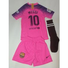 Echipament/compleu -tricou/sort copii BARCELONA - MESSI model 2019 + BONUS