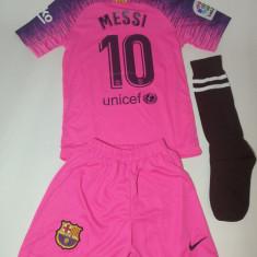 Echipament/compleu -tricou/sort copii BARCELONA - MESSI model 2019 + BONUS, YL, YM, YS, YXL, YXXL, Tricou + Pantalon