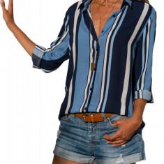 W708 Camasa casual, model cu dungi si maneci lungi