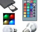 Cumpara ieftin O idee speciala pentru decorare! Bec multicolor (RGB) cu telecomanda