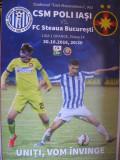 Program meci fotbal CSM Poli Iasi-Steaua Bucuresti (30 octombrie 2016)