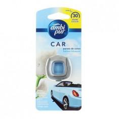 Odorizant auto Febreze Car Ambi Pur Clip Purete Coton, 2 ml