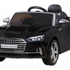 Kinderauto Audi S5 Cabriolet 2x35W CU ROTI MOI 12V Negru