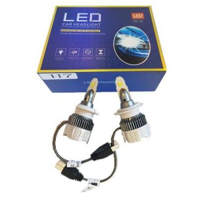 Set 2 becuri LED H7, 8000k, Ventilatie Automata, Fara Erori, Model 2019 foto