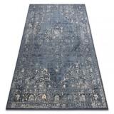 Covor Lână NAIN Rozetă vintage 7599/5091 albastru inchis / bej , 160x230 cm