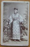 Foto Mandy pe carton , Bucuresti , costum popular , secol 19 , 3