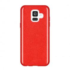 Husa Samsung Galaxy A6 2018 - Cu Sclipici Rosie