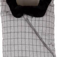 Nuvita Ovetto Pop sac de iarna 80 cm Checkered Milk Biscuit Beige 9235