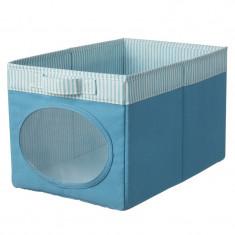 Cutie depozitare jucarii, 25 x 37 x 22 cm, Albastru, General