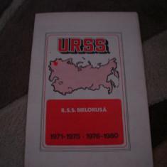 Harta URSS - R.S.S.Bielorusa, 1977, in lb. romana - cincinalele