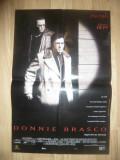 Afis Film Donnie Brasco -1997 regizat de Mike Newell, cu Al Pacino, Johnny Depp