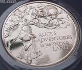 5 pounds 2021 Marea Britanie, Alice's Adventures in Wonderland, B unc, Coincard, Europa