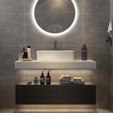 Set mobilier pentru baie din MDF, Terazzo 90 cm, 4 piese