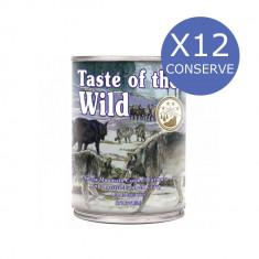 Bax 12 Conserve Taste Of The Wild Sierra Mountain 390 gr.