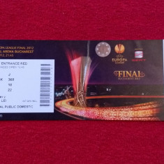 Bilet meci fotbal Atlético Madrid - Athletic Bilbao (Finala Europa League 2012)
