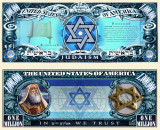 SUA = FANTASY NOTES (TJ6) =  SERIA RELIGIILE LUMII : IUDAISMUL - 2015  - UNC