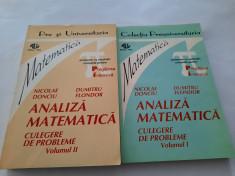 Analiza matematica CULEGERE DE PROBLEME  Nicolae Donciu , Dumitru Flondor 2 VOL foto