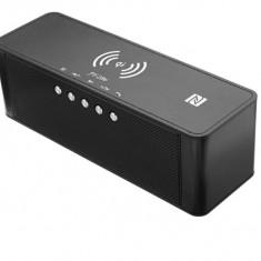 Boxa portabila cu bluetooth, Radio, Incarcare wireless, NFC, Negru