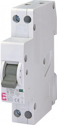 Siguranta automata ETI, 20A, 1P+N, curba declansare B20, curent de rupere 6kA foto