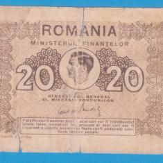 (2) BANCNOTA ROMANIA - 20 LEI 1945, REGELE MIHAI I
