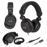 Cumpara ieftin Casti profesionale pentru DJ, jack 3.5 mm, cablu 3 m, negru